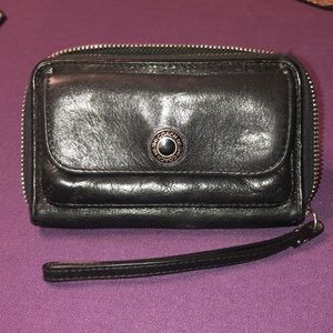 COACH wristlet leather wallet